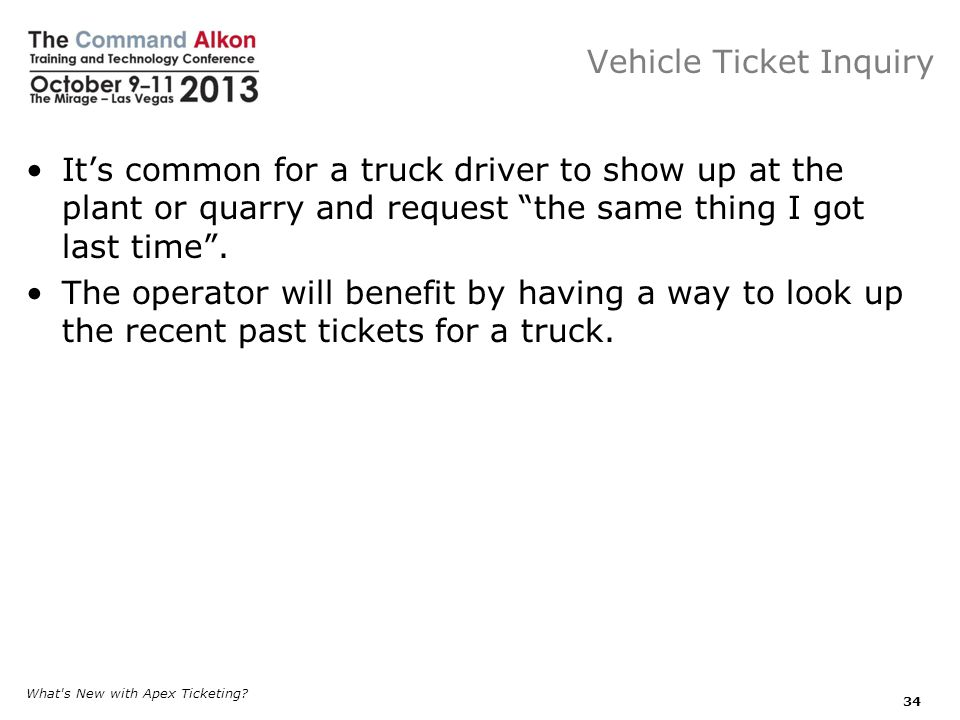 Vehicle Ticket Inquiry