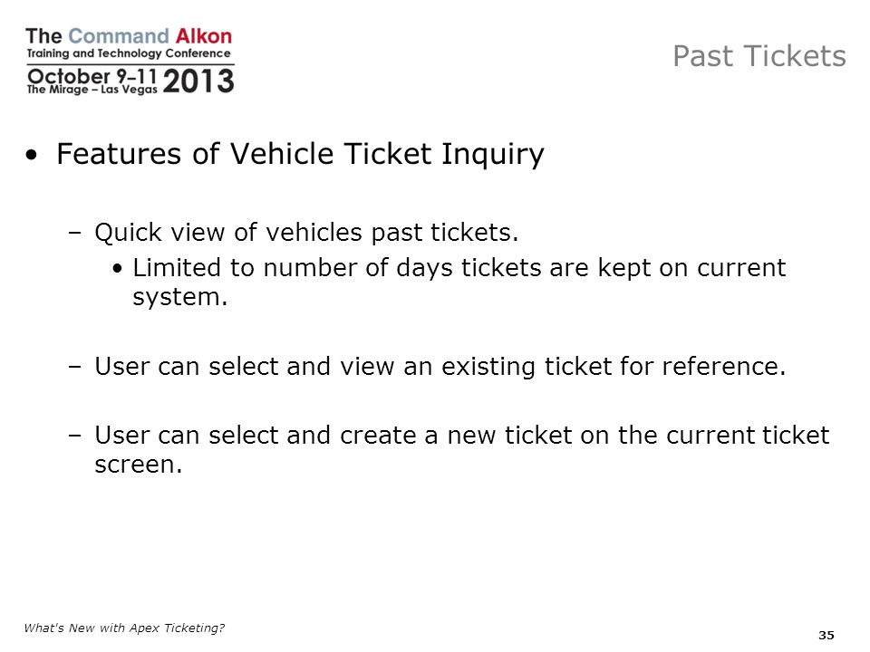 Features of Vehicle Ticket Inquiry