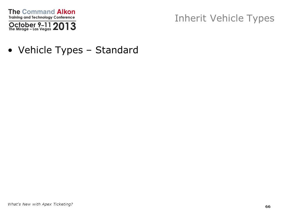 Vehicle Types – Standard