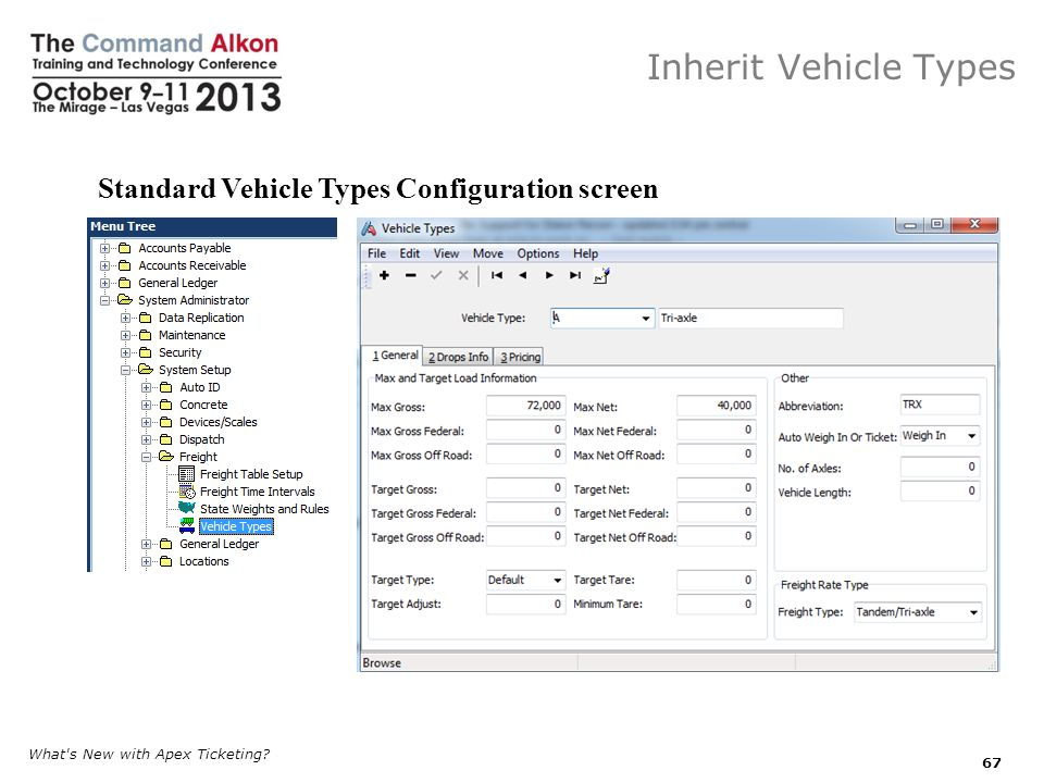 Inherit Vehicle Types Standard Vehicle Types Configuration screen