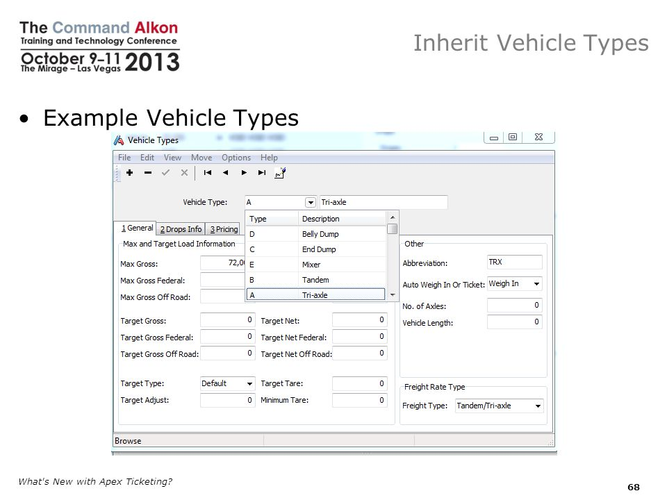 Inherit Vehicle Types Example Vehicle Types