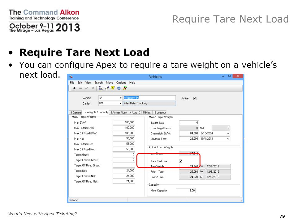 Require Tare Next Load Require Tare Next Load