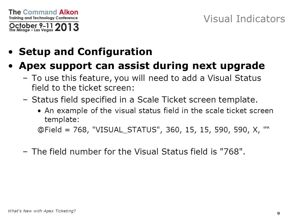 Setup and Configuration Apex support can assist during next upgrade