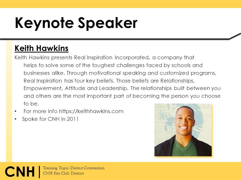 Keynote Speaker Keith Hawkins