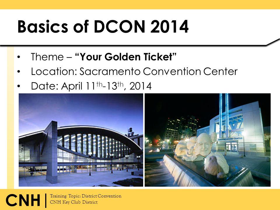 Basics of DCON 2014 Theme – Your Golden Ticket