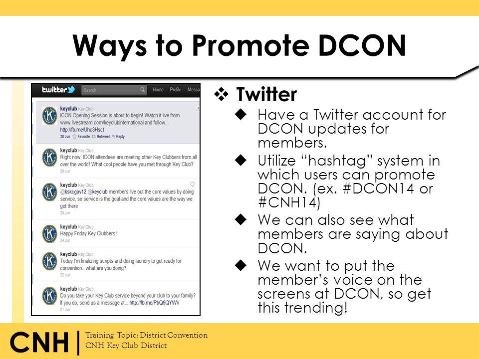 Ways to Promote DCON Twitter