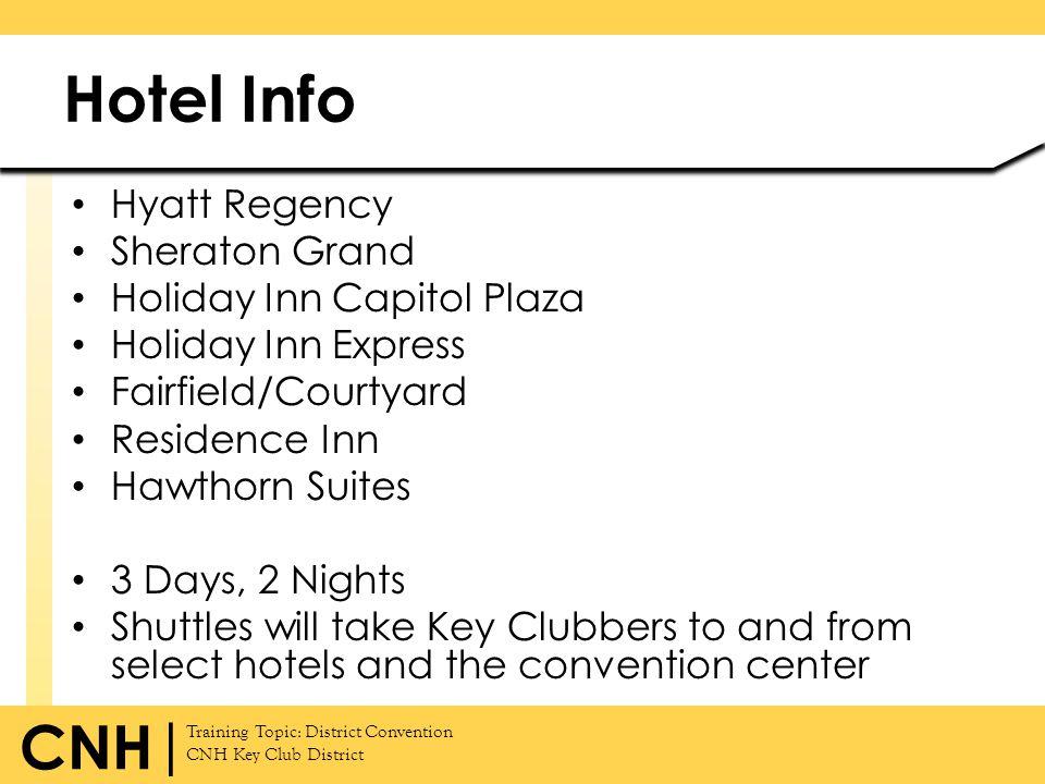 Hotel Info Hyatt Regency Sheraton Grand Holiday Inn Capitol Plaza