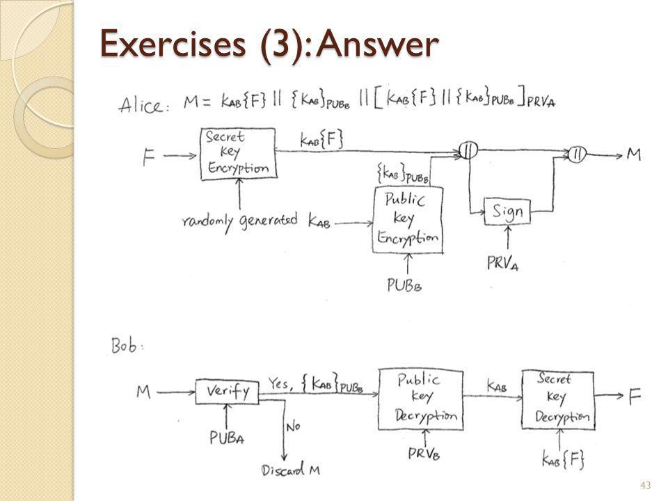 Exercises (3): Answer