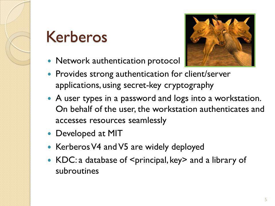 Kerberos Network authentication protocol