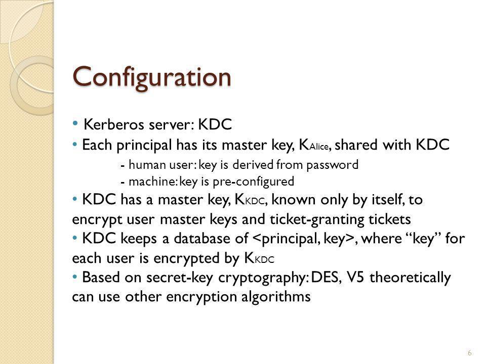 Configuration Kerberos server: KDC