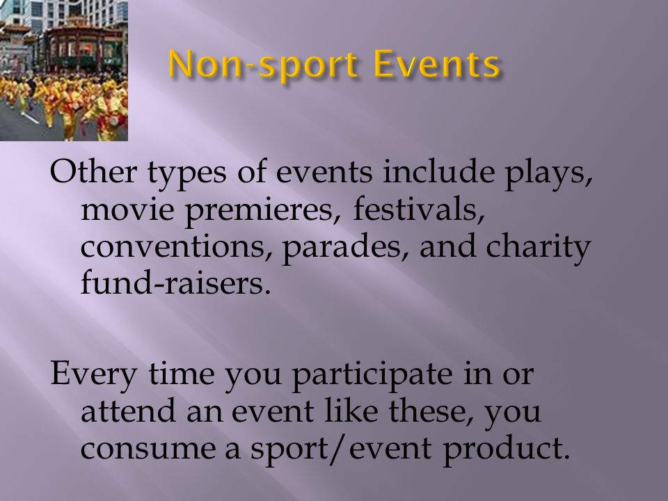 Non-sport Events
