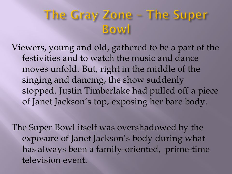 The Gray Zone – The Super Bowl