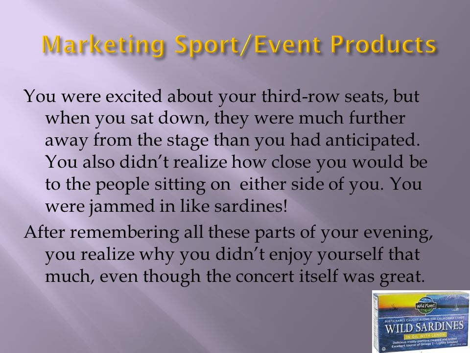 Marketing Sport/Event Products