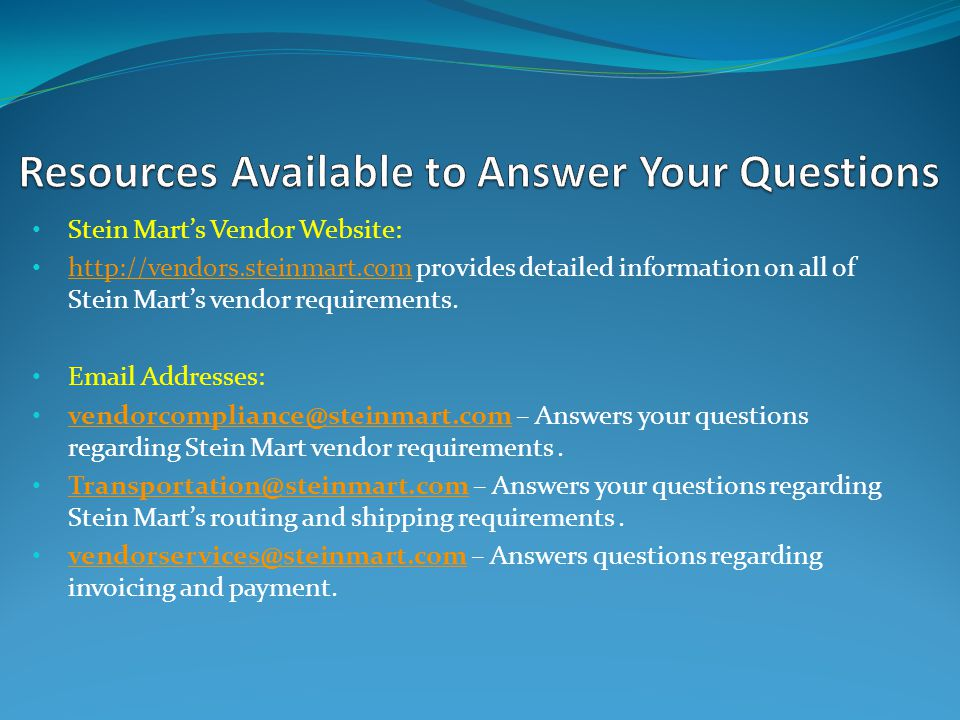 Resources Available to Answer Your Questions
