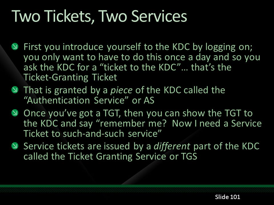 Two Tickets, Two Services