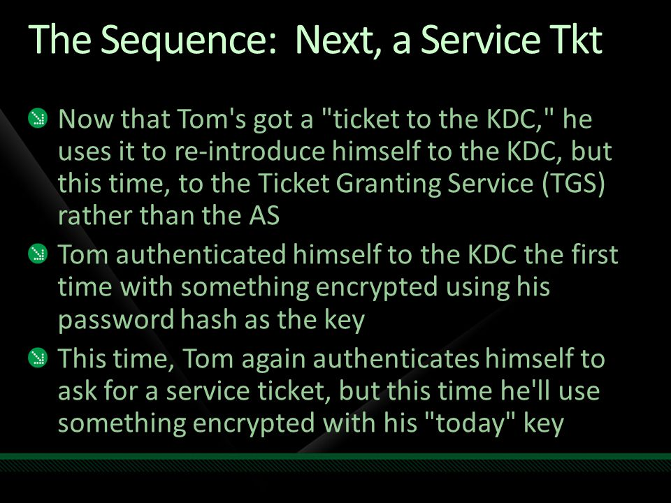 The Sequence: Next, a Service Tkt