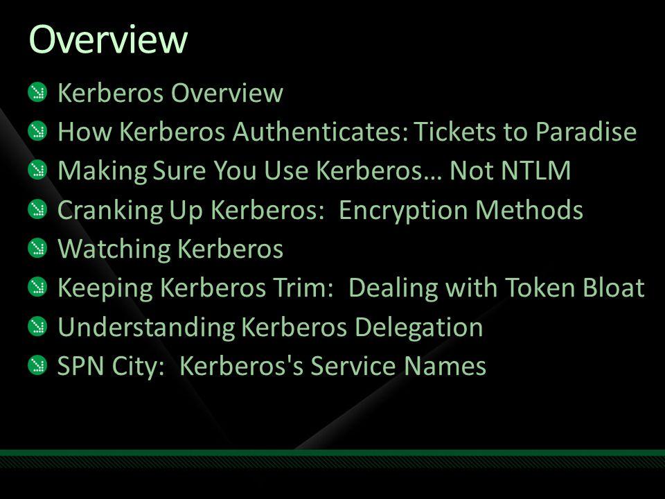 Overview Kerberos Overview