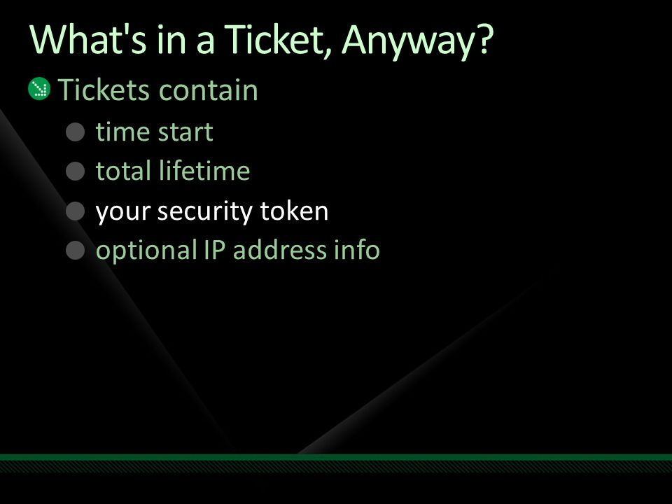 What s in a Ticket, Anyway