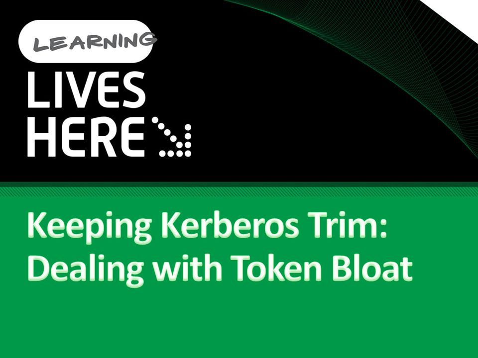 Keeping Kerberos Trim: Dealing with Token Bloat