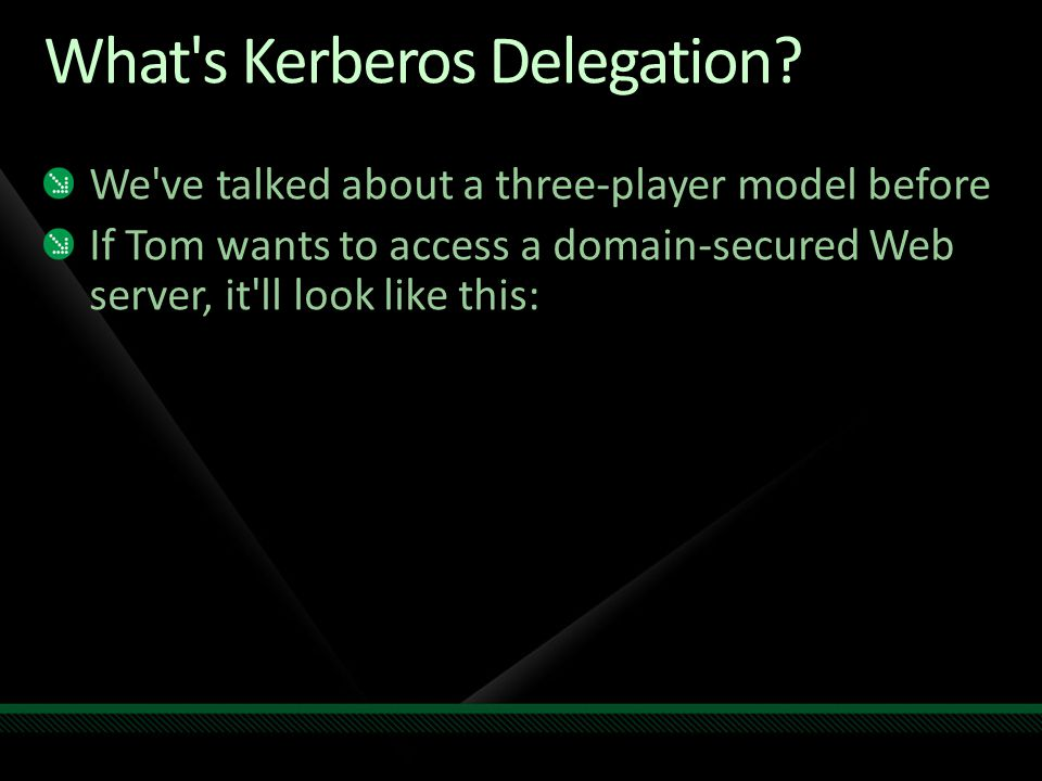 What s Kerberos Delegation