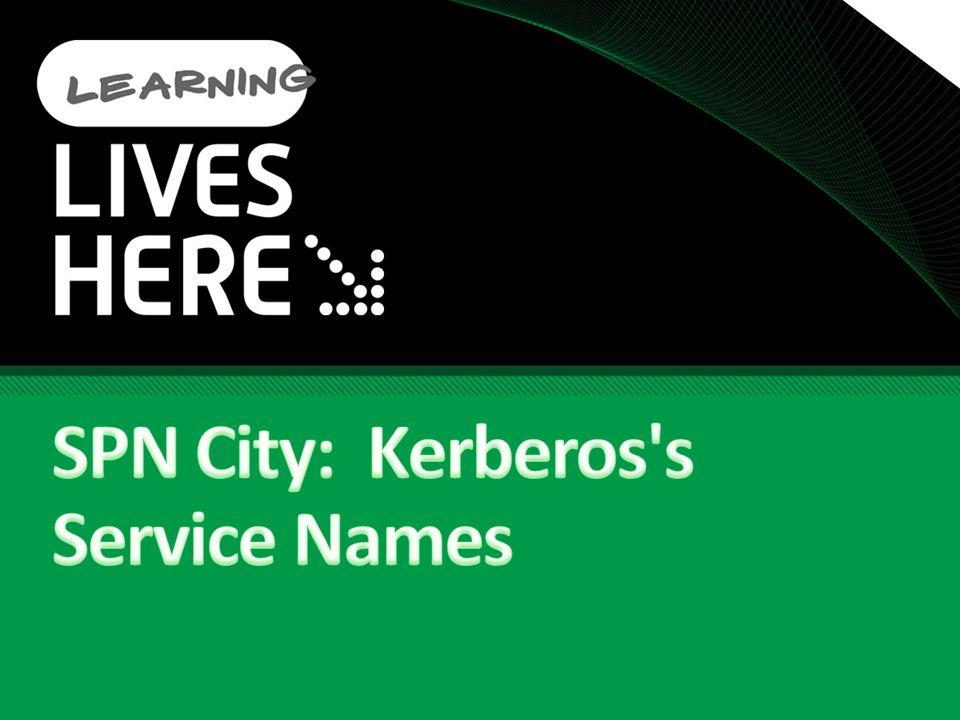 SPN City: Kerberos s Service Names