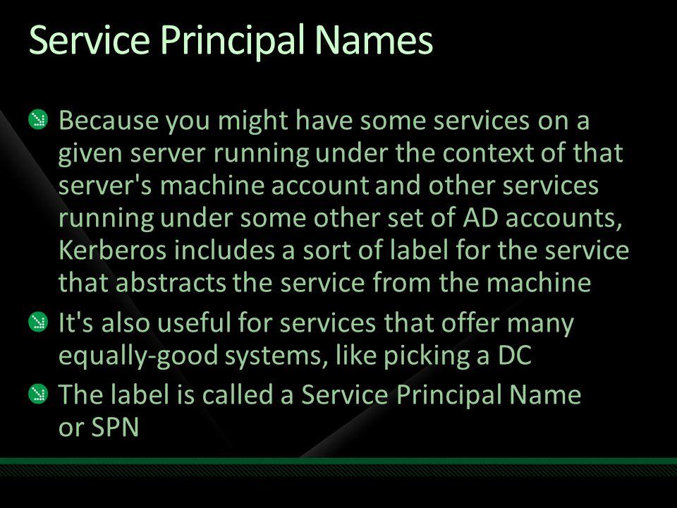 Service Principal Names