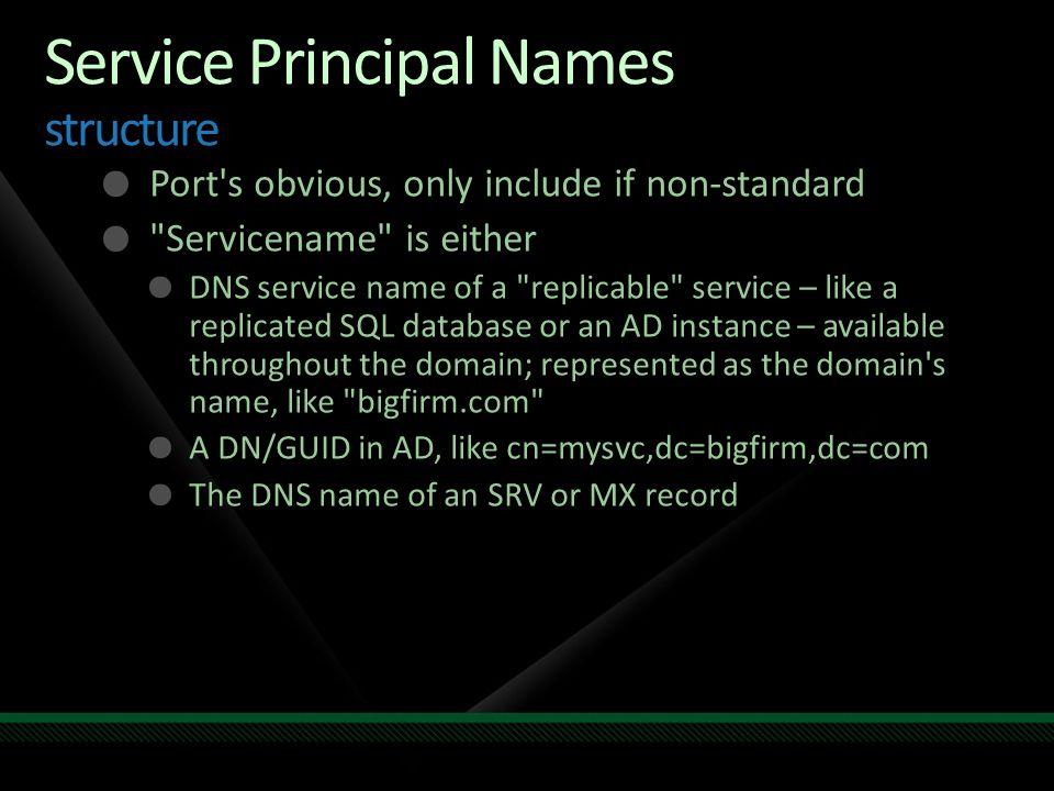 Service Principal Names structure