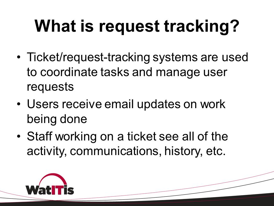 What is request tracking