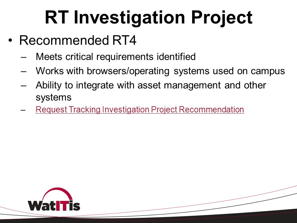 RT Investigation Project