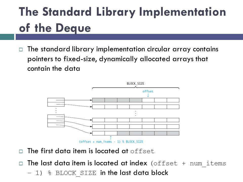 The Standard Library Implementation of the Deque