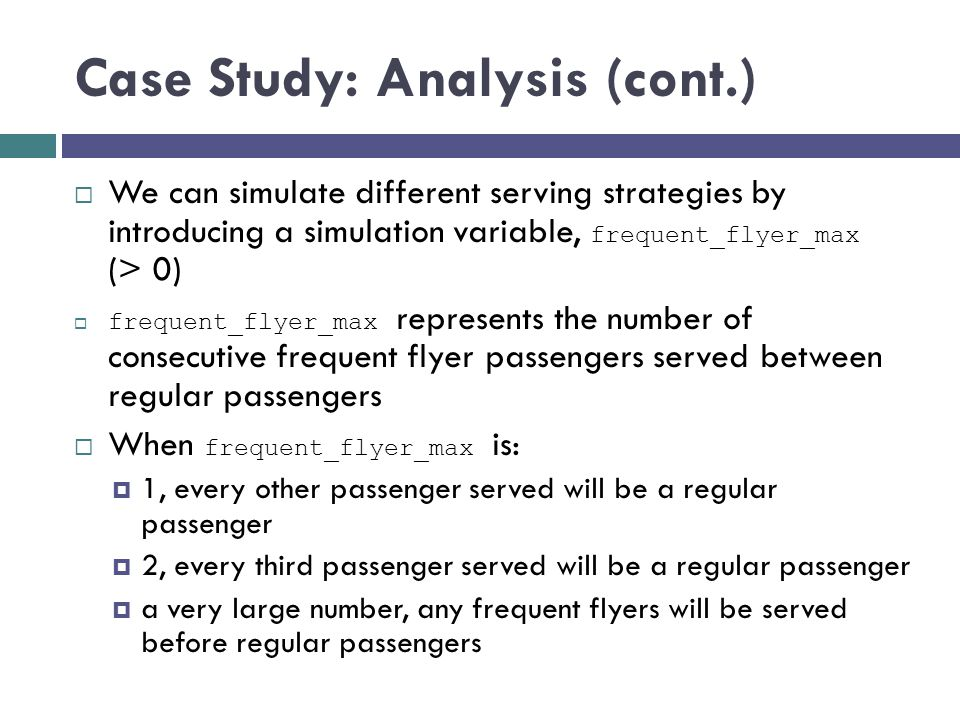 Case Study: Analysis (cont.)