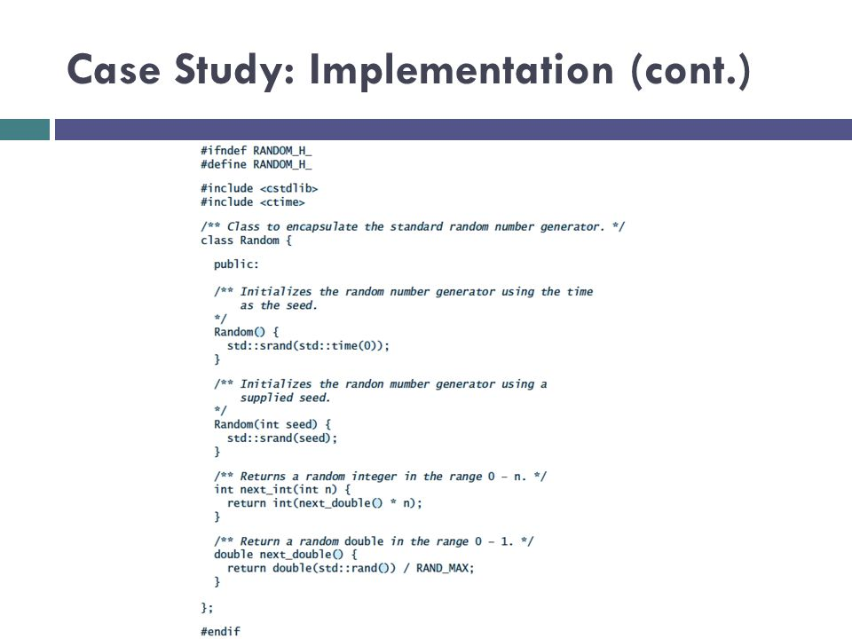 Case Study: Implementation (cont.)