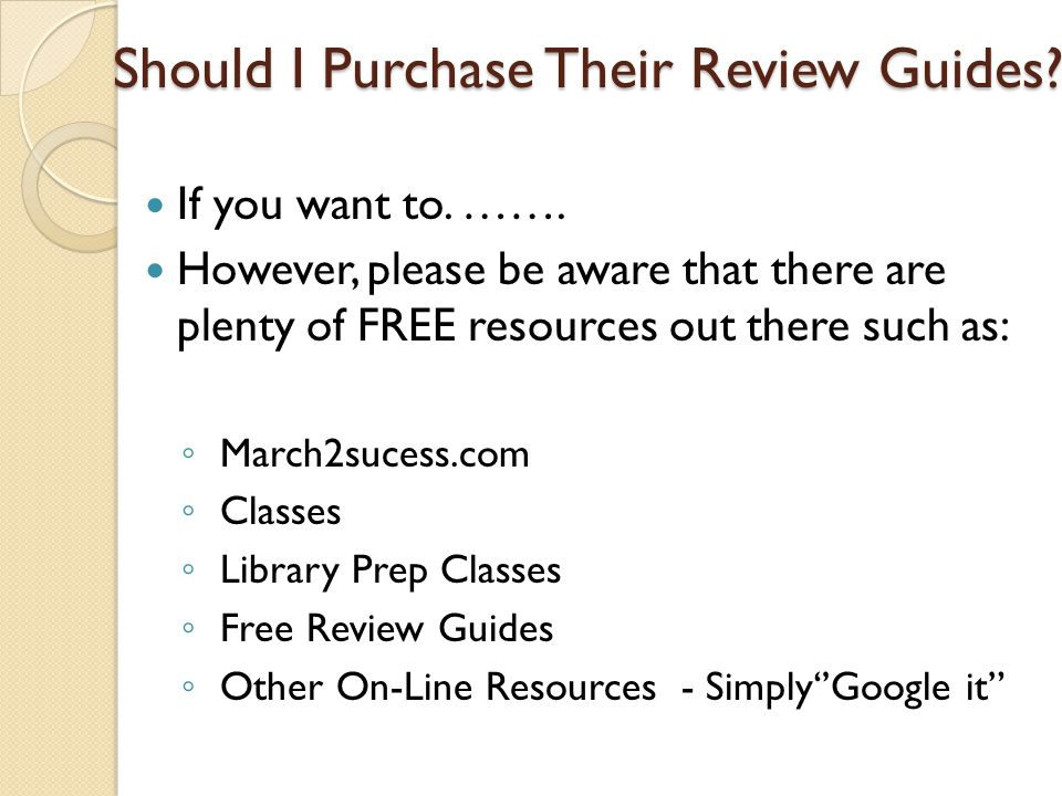 Should I Purchase Their Review Guides