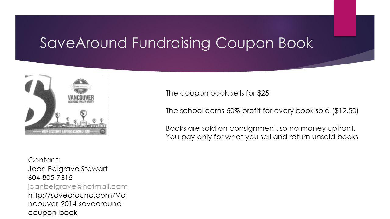 SaveAround Fundraising Coupon Book