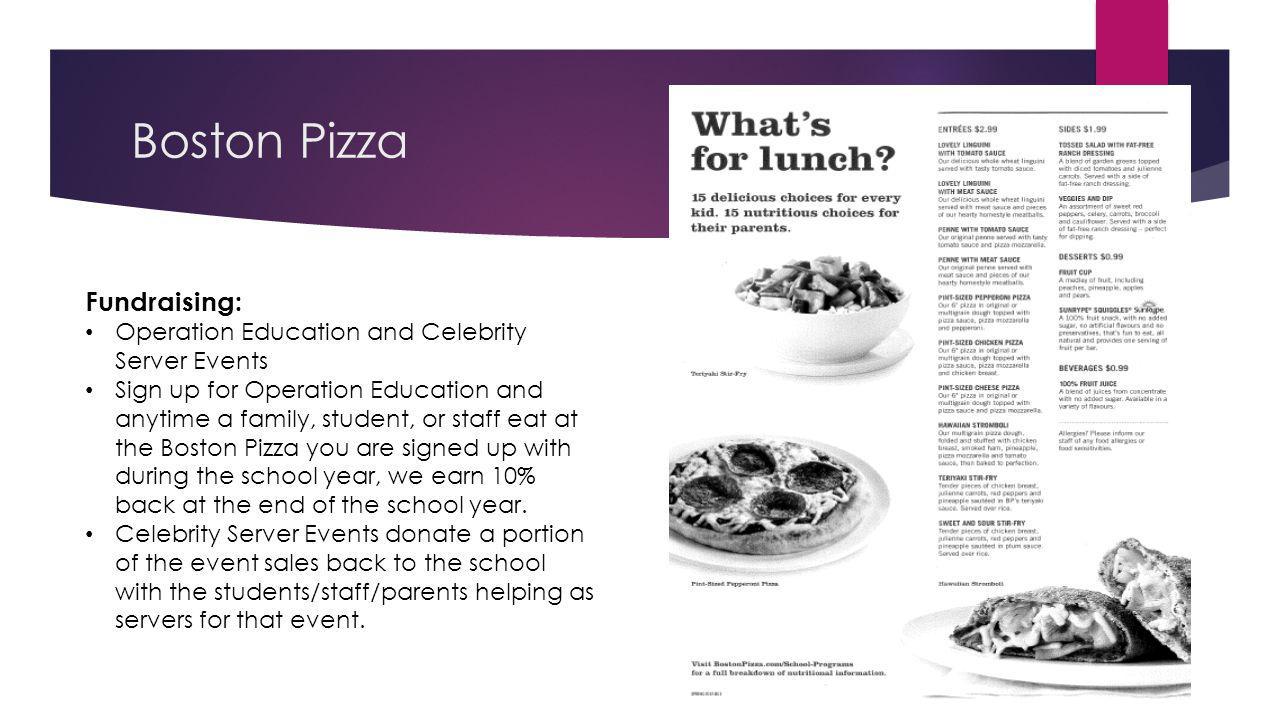 Boston Pizza Fundraising: