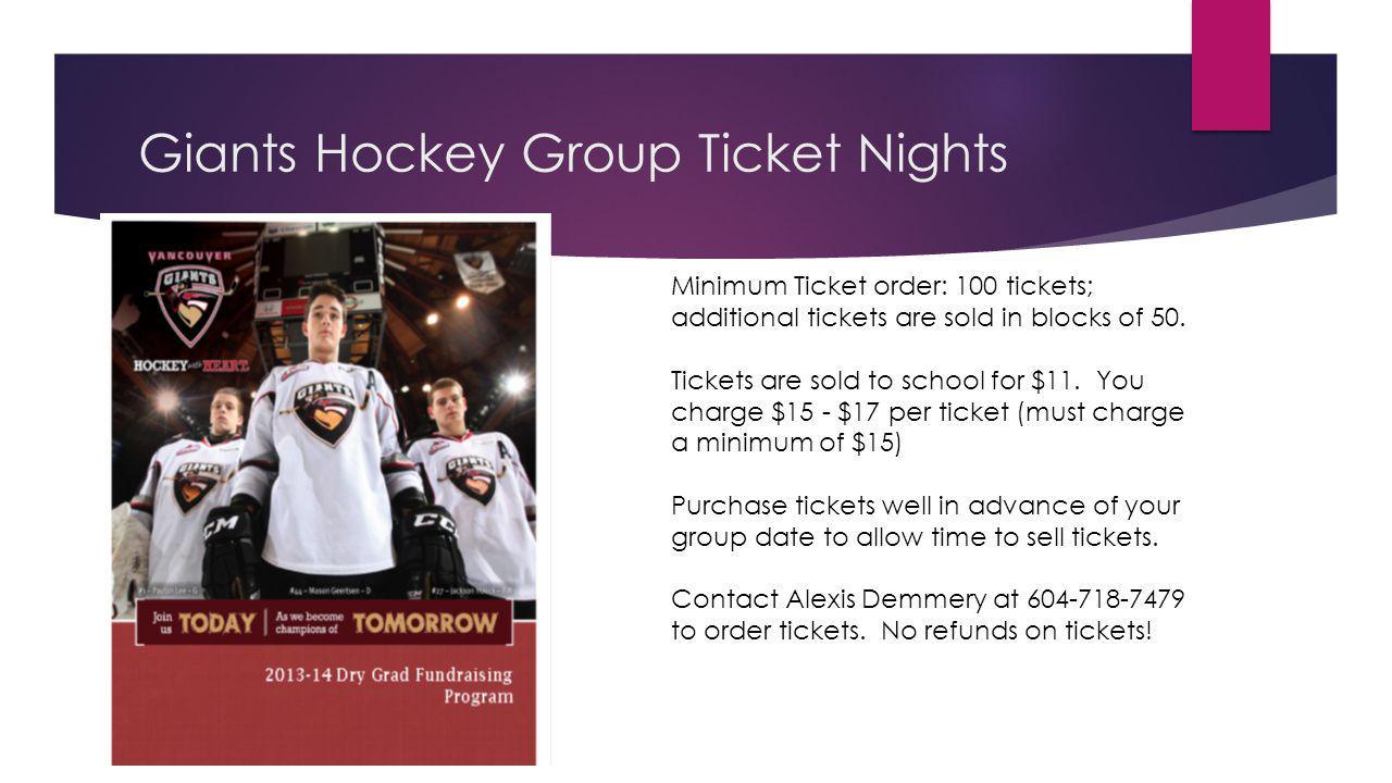 Giants Hockey Group Ticket Nights