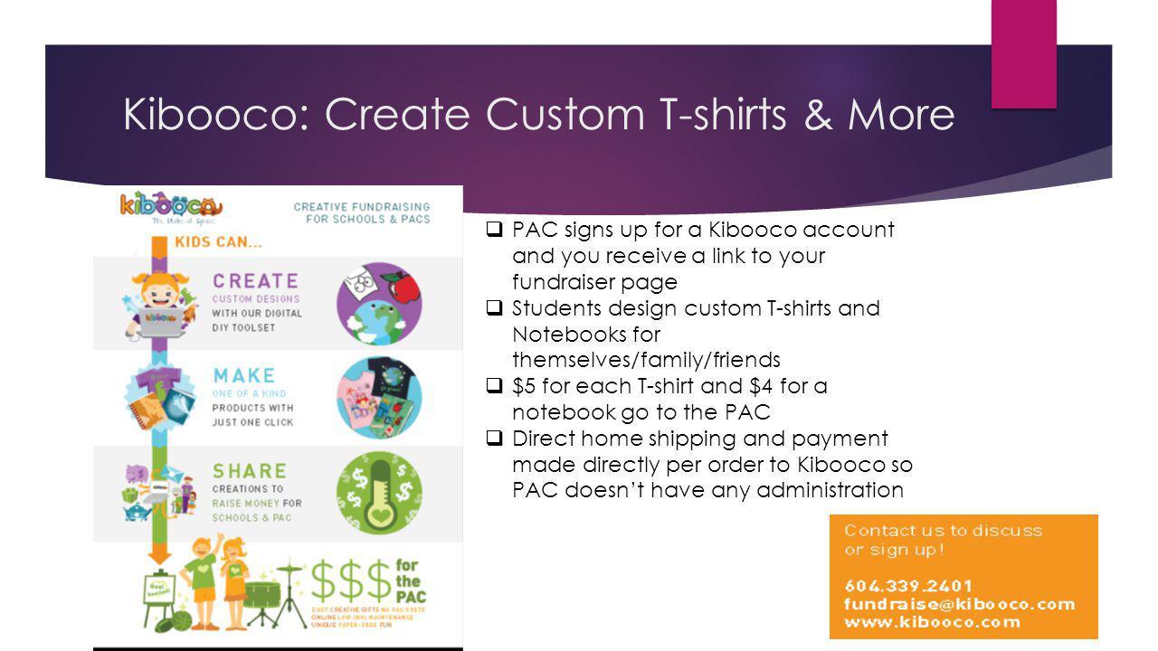 Kibooco: Create Custom T-shirts & More
