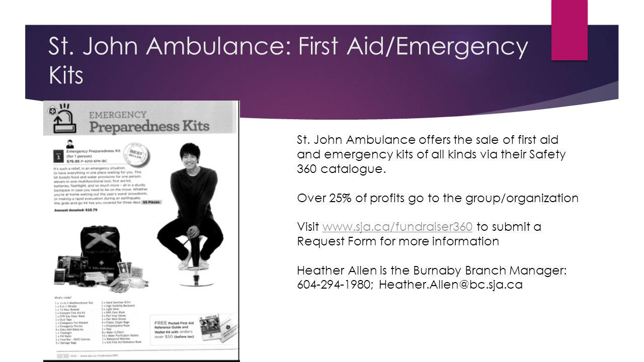 St. John Ambulance: First Aid/Emergency Kits