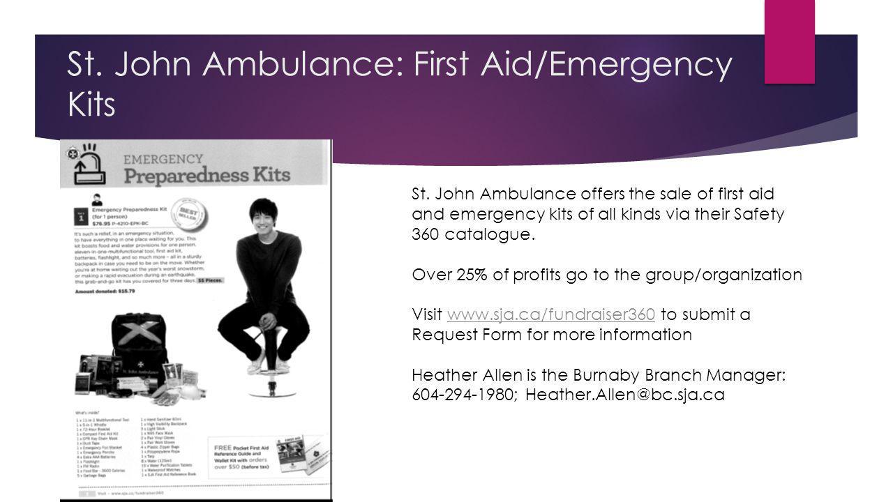 St. John Ambulance: First Aid/Emergency Kits