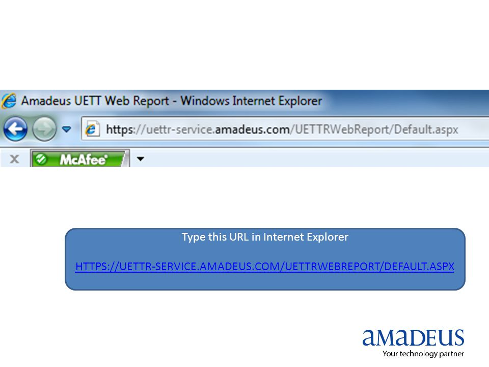 Type this URL in Internet Explorer