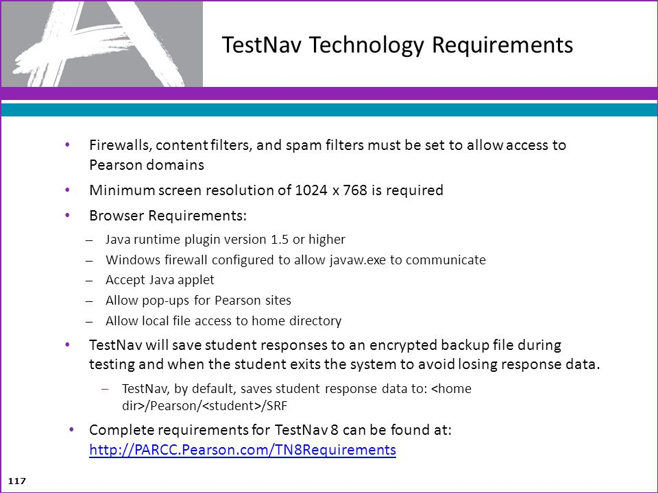 TestNav Technology Requirements