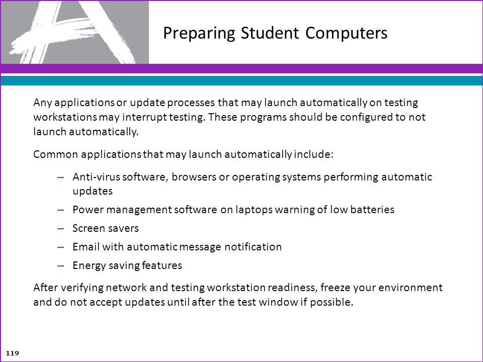Preparing Student Computers