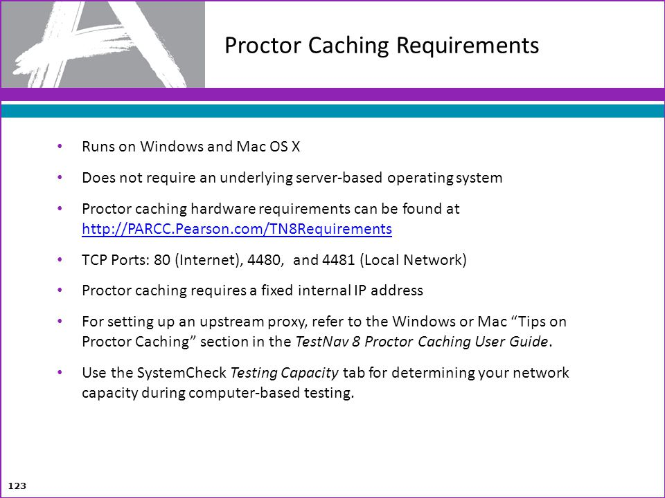 Proctor Caching Requirements