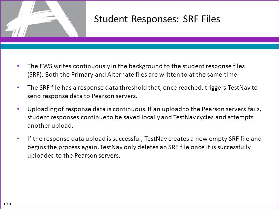 Student Responses: SRF Files