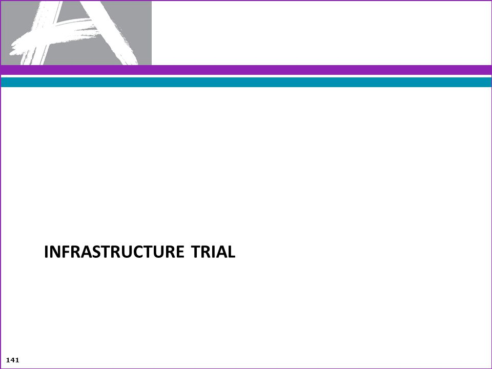 Infrastructure Trial Setting up an Infrastructure Trial