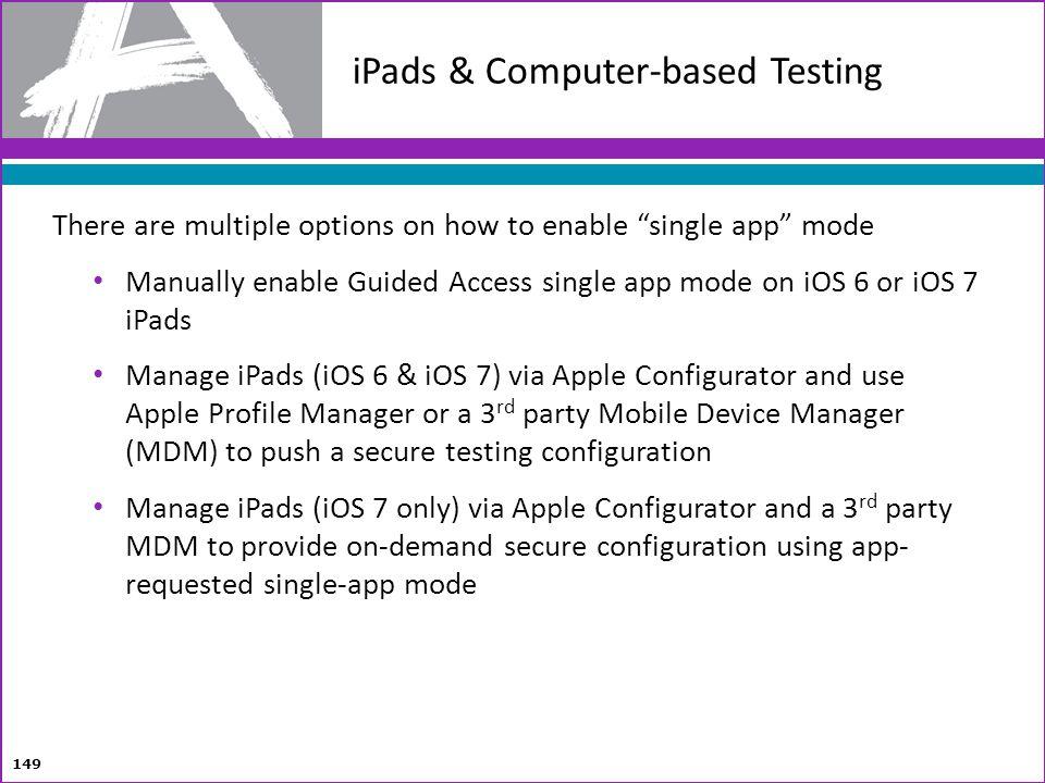 iPads & Computer-based Testing