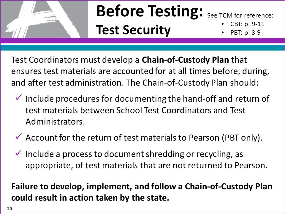 Before Testing: Test Security
