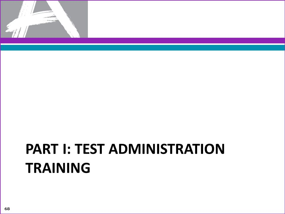 Part I: Test Administration Training