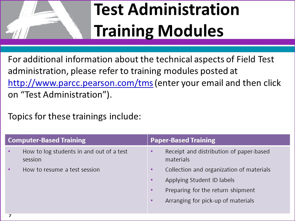 Test Administration Training Modules
