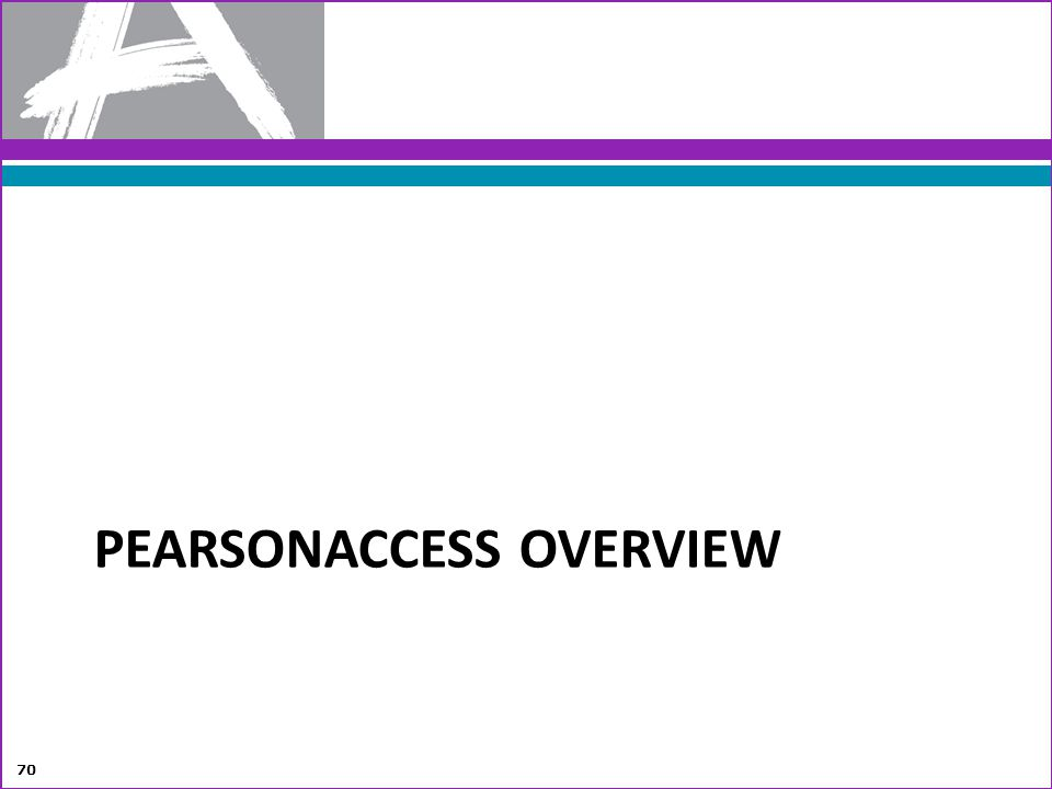 PearsonAccess Overview